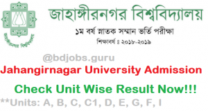 JU Bangladesh University Result 2020-2021| www.ju-admission.org, Jahangirnagar University admission result 2021
