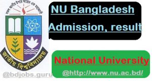 National-university-Bangladesh-Admission-2019, NU Bangladesh Admission 2018-2019,